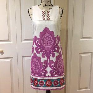 Laundry by shelli segal beaded shift dress Sz 8